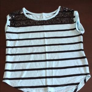 Justice striped top Girls size 7